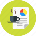 coffee, content, creative, documrnt, file, fresh icon