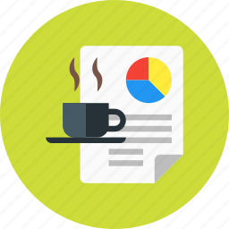 coffee, content, creative, documrnt, file, fresh icon