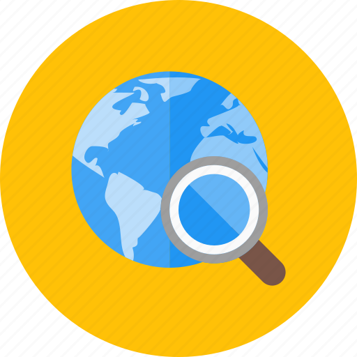 global, magnifying, search, seo, view, zoom icon