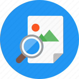 documents, file, find, image, image file, search, zoom icon