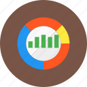 analysis, bar chart, chart, competitor, graph, market, pie chart icon