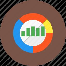 analysis, bar chart, chart, competitor, graph, market, pie chart icon
