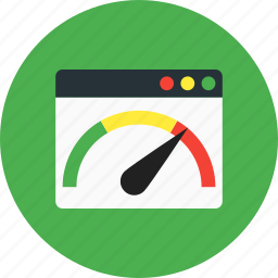 dashboard, loading, pagespeed, performance, speed, speedometer icon