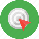 click, optimization, ppc, target icon