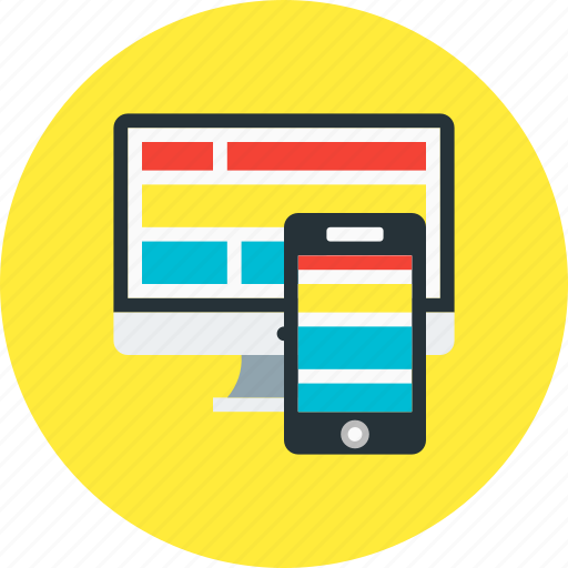 design, graphic, monitor, responsive, screen icon