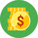 gold, investment, money, on, return, roi icon