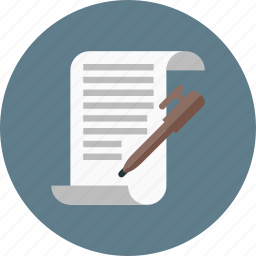 copywriting, file, letter, message, paper, script icon