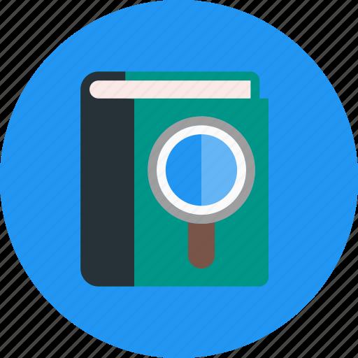 address, book, guide, search, seo icon