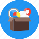 box, delivery, package, product, service, shopping icon