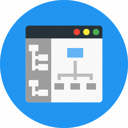 browser, internet, navigation, sitemap icon