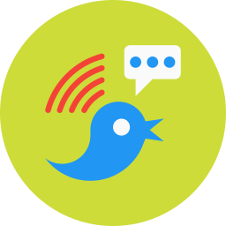 bird, signal, signals, social, tweet, twitter, wifi icon