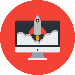 launch, project, rocket, start up, startup icon