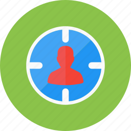 account, audience, avatar, target, user, users icon