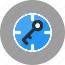 key, keyword, locked, safe, secure, target icon