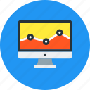 analysis, analytics, chart, diagram, graph, monitor, traffic icon