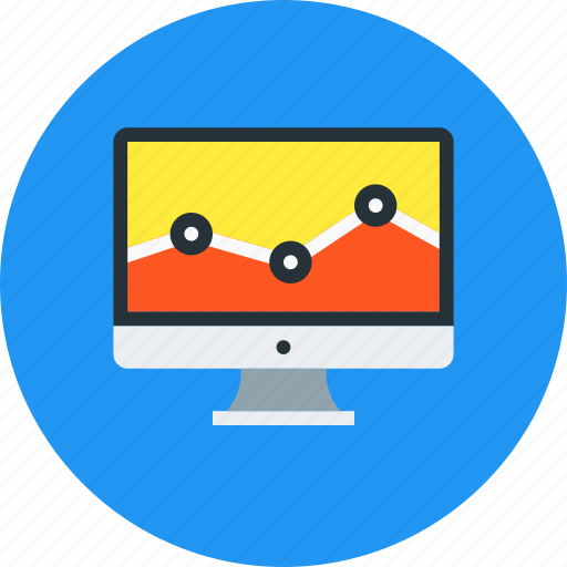 analysis, analytics, chart, diagram, graph, monitor, traffic icon