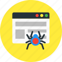 crawler, network, page, seo, web, website icon
