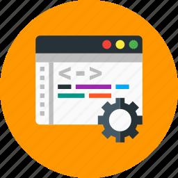 browser, coding, development, setting, web icon