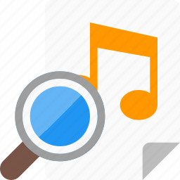 audio, file, find, itunes, music, search icon