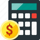 banking, budget, calc, calculation, calculator, estimates, math icon