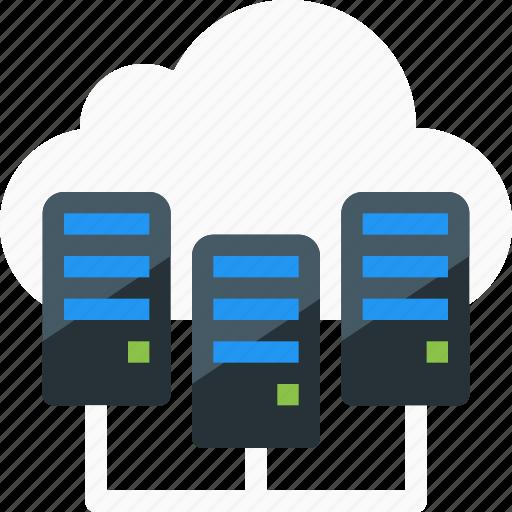 cloud, data center, host, hosting, network, server, storage icon
