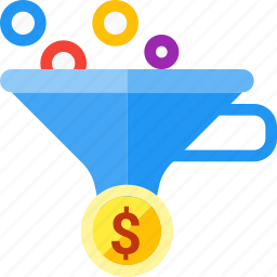 conversion, filter, funnel, leads, optimization, sales icon