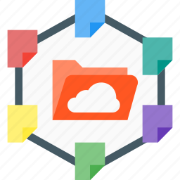 cloud share, document, extension, file, share, sharing icon
