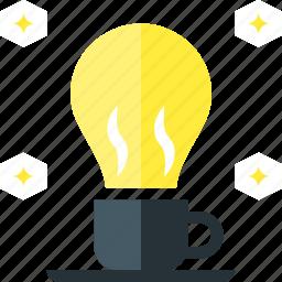 coffee, concept, creative, fresh, idea, smart icon