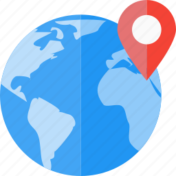 connection, earth, global, local, location, seo, social targeting icon
