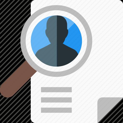 curriculum, cv, file, portfolio, profile, resume, vacancy icon