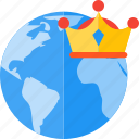 award, badge, branding, globe, map, online, quality icon
