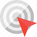 aim, focus, goal, purpose, success, target icon