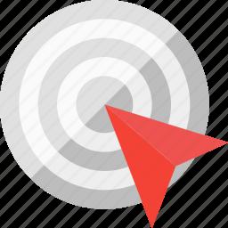 aim, focus, goal, purpose, success, target icon