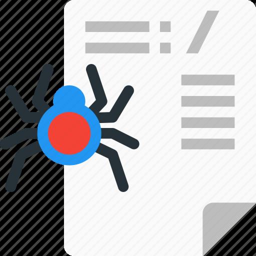 application, bug, file, programming, robot txt, source code icon