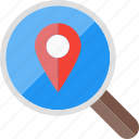 location, place, search, explore, find, research