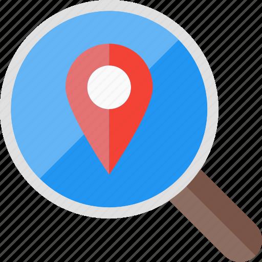 explore, find, location, place, research, search icon