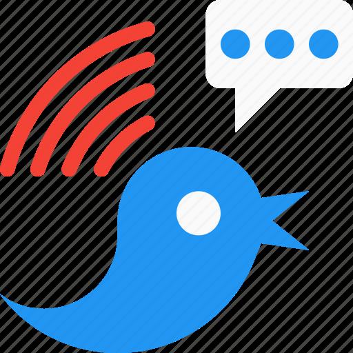 bird, signals, social, social media, tweet, twitter icon