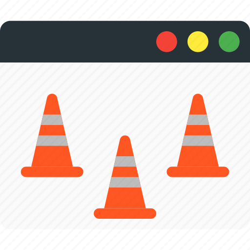 cone, fix, maintenance, repair, traffic, under construction, web icon