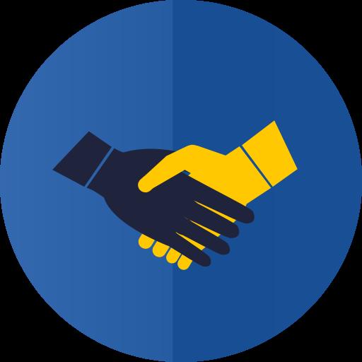 hands, handshake, partnership icon