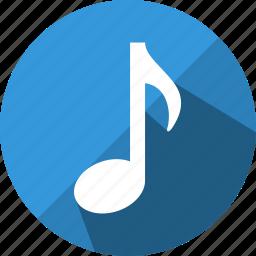 audio, media, music, musical, note, sound icon