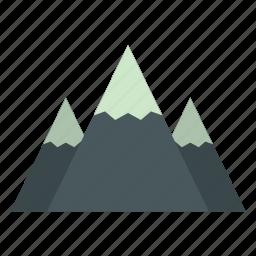 canada, landscape, mountain, nature, rock, snow peak, view icon
