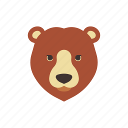 animal, bear, canada, characteristic, grizzly, mascot, wild icon