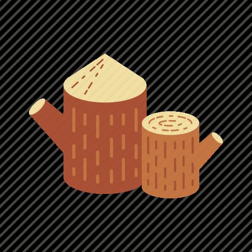 bark, canada, forest, nature, stump, tree, wood icon