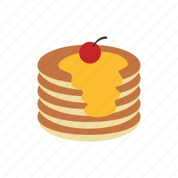 butter, canada, food, maple, pancake, pancakes, syrup icon