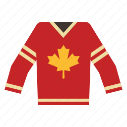 canada, characteristic, hockey, maple, sport, team, uniform icon