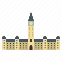 architecture, building, canada, government, landmark, parlement, parliament icon