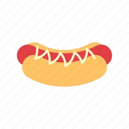 bread, food, hotdog, meat, mustard, sausage, snack icon