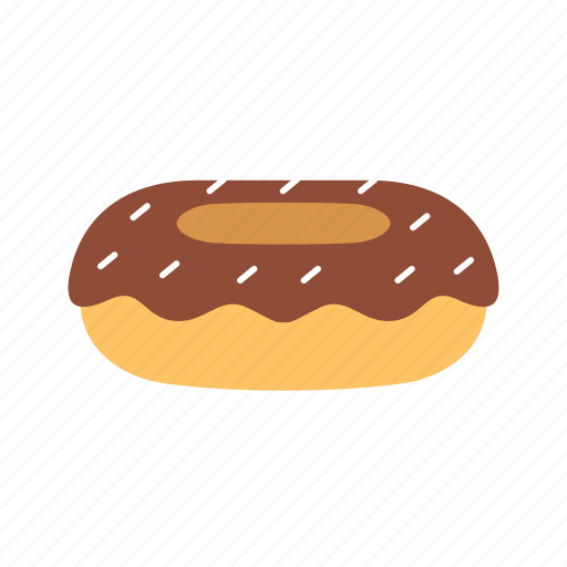 bakery, chocolate, dessert, donut, food, meal, topping icon