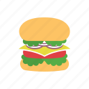 beef, burger, cheese, fast food, food, hamburger, meal icon