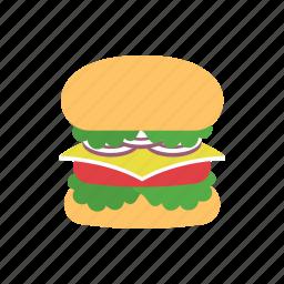 beef, burger, cheese, fast food, food, hamburger, meal icon